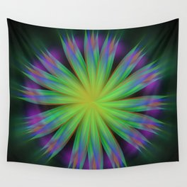 Sonic Bloom Wall Tapestry