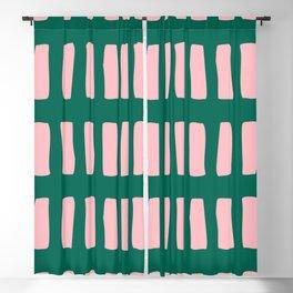 Handrawn Boho Rectangles No 03 Blackout Curtain