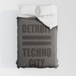 Detroit Techno city, electronic music djs gift Comforters