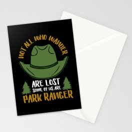 Park Ranger Wildlife Environment Expert Stationery Cards