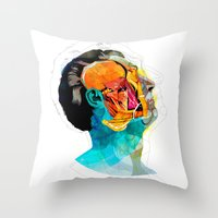 ford Throw Pillows featuring Anatomy [Ellis+Ford] by Alvaro Tapia Hidalgo