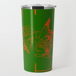 tengu green/orange Travel Mug