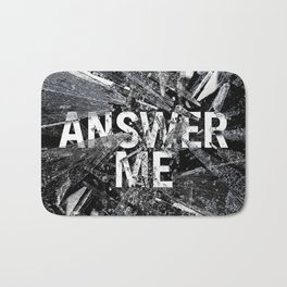 Answer Me Bath Mat
