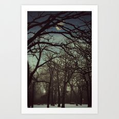 B4 Night falls Art Print