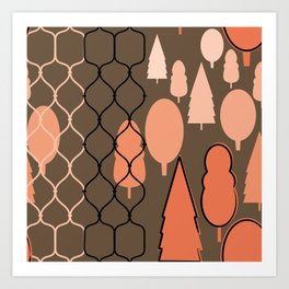 Fency Forest Art Print