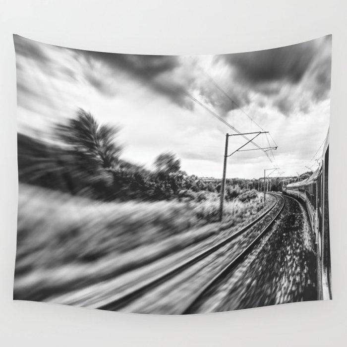 street photo BY TRAIN #street #streetphoto Wall Tapestry