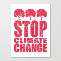Stop Climate Change Canvas Print
