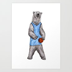 White Bears Can't Jump Art Print