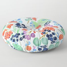 joyful berries Floor Pillow
