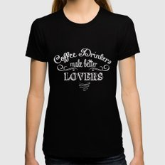 COFFEE SMALL Womens Fitted Tee Black