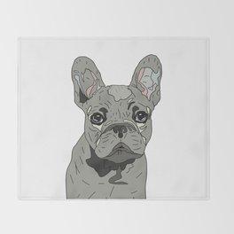 Frenchie Bulldog Puppy Throw Blanket