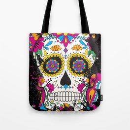 Sugar skull dia de los muertos Tote Bag