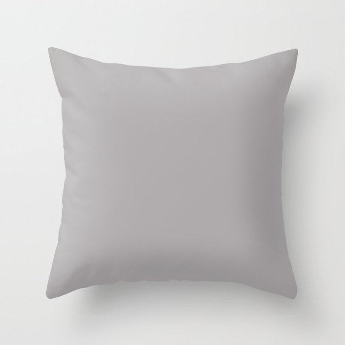 Light Pastel Gray Solid Color Pairs with Sherwin Williams Mantra 2020 Forecast Colors Mystical Shade Throw Pillow