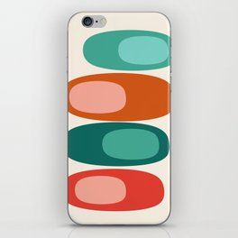 Ya Dig - abstract retro minimal dots 70s 1970s style pattern art 70's 1970's iPhone Skin