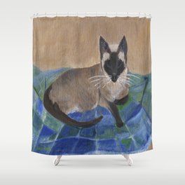 Siamese Napping Shower Curtain