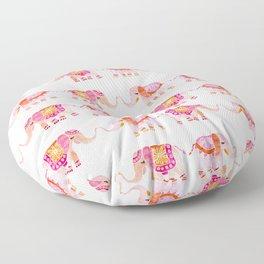 HAPPY ELEPHANTS - WATERCOLOR Floor Pillow