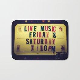 Live music sign Bath Mat