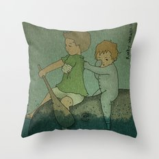 Who Cares? Throw Pillow
