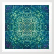 Abstract Blue Fractal Art Print