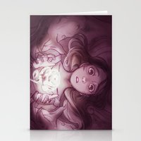 beauty and the beast Stationery Cards featuring Beauty / Beast by Nilah Magruder