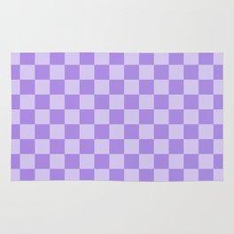 Lavender Check Rug
