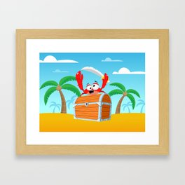 Pirate Crab Framed Art Print