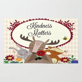 Woodland Animals, Kindness Matters Rug