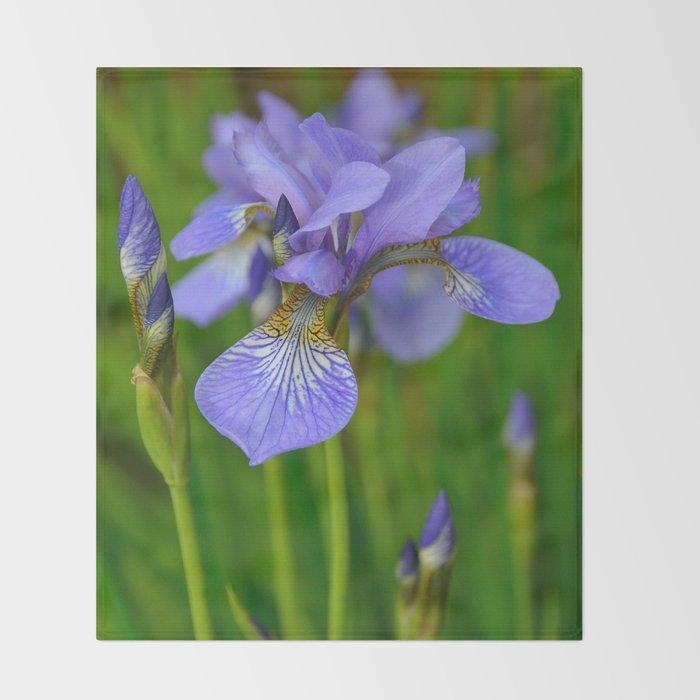 Siberian Iris by Teresa Thompson Throw Blanket