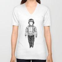danny haas V-neck T-shirts featuring Danny by cristina zavala