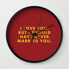 """Fantastic Mr Fox - """"I love you but I should have never married you."""" Wall Clock"""