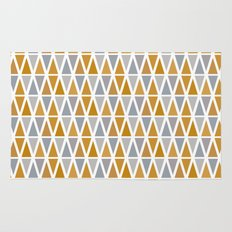 Golden and silver triangles Rug