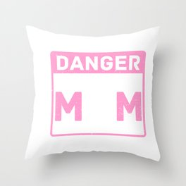 Cute & Funny Danger Softball Mom Will Shout Loudly Throw Pillow