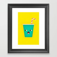 Party Cup Framed Art Print