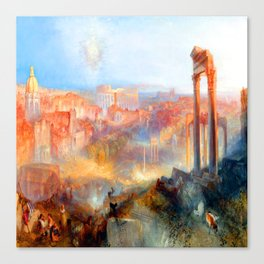 William Turner Modern Rome Canvas Print