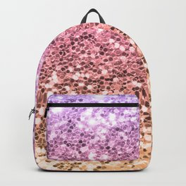 Pastel Mermaid Glitters Sparkling Cute Girly Background Gold Pink Backpack