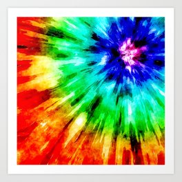 Tie Dye Meets Watercolor Art Print