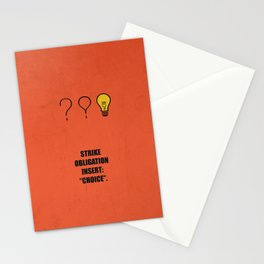"""Lab No.4 -Strike Obligation Insert: """"Choice"""" Corporate Startup Quotes poster Stationery Cards"""