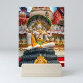 Lord Vishnu Thailand Temple Mini Art Print