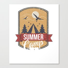 Cute Summer Camp 2018 for Campers Canvas Print