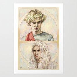 Gods for Halloween Art Print
