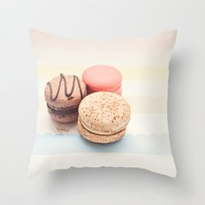 Macaron Pastel Color Throw Pillow