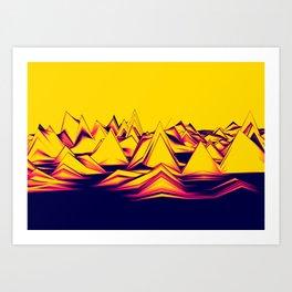 Spiky Landscape Art Print