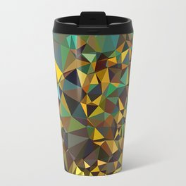 Goldish triangulated abstraction Travel Mug
