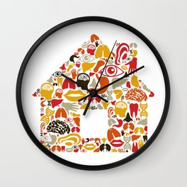 Body the house Wall Clock