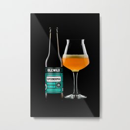 Poured super normal IPA Metal Print