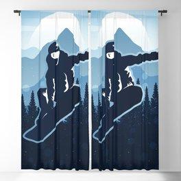 Royal Skiing - Attitude - Ski Snowboard Fly Skyline Blackout Curtain