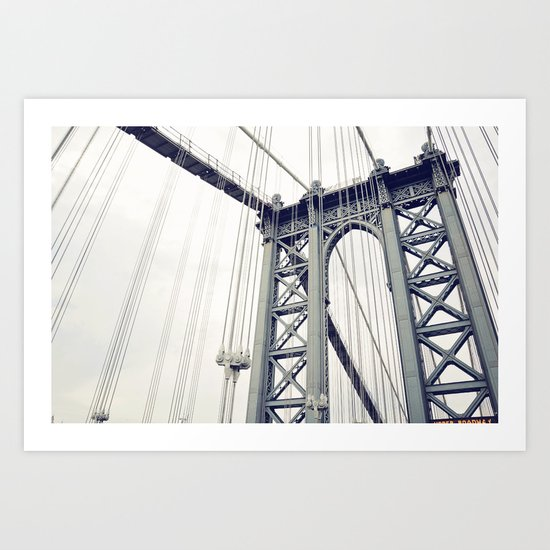 The Manthattan Bridge Art Print