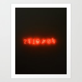 Neon Sweary (Color) Art Print