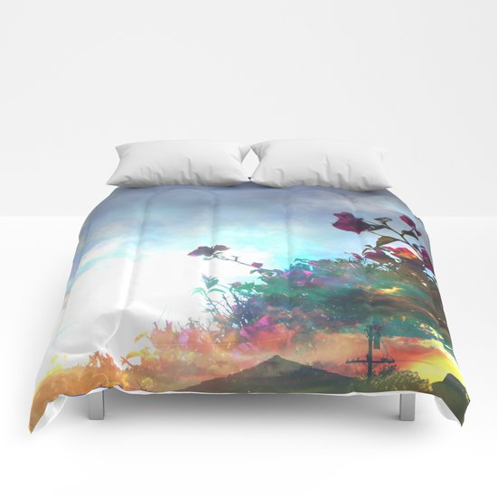 Storm of a Green Thumb Comforters