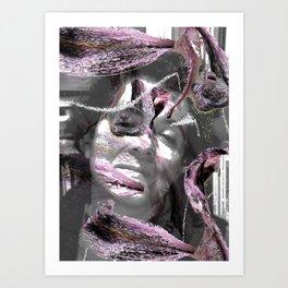 Retrato del alma con lilias Art Print